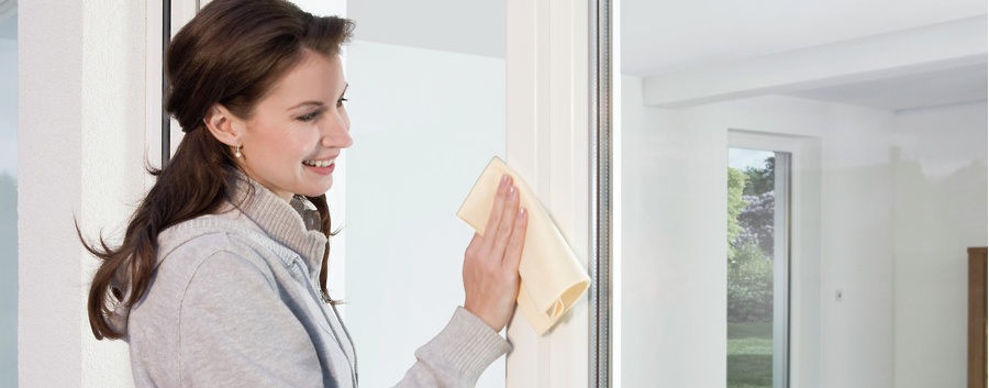 Limpiar ventanas PVC